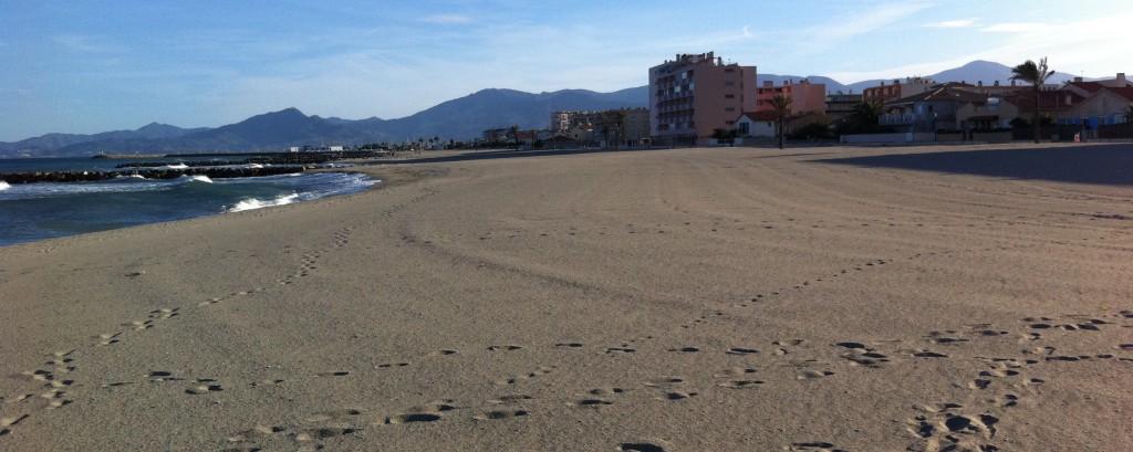 Stranden ved St. Cyprien i Sydfrankrig
